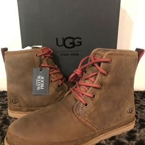 63f747c63e9 Ugg Harkley Men's Waterproof Boots NEW in Grizzly NWT